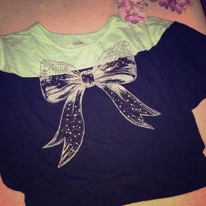 Girls justice shoulder shirt